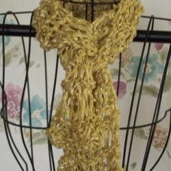 Gold Silk Ribbon Scarf